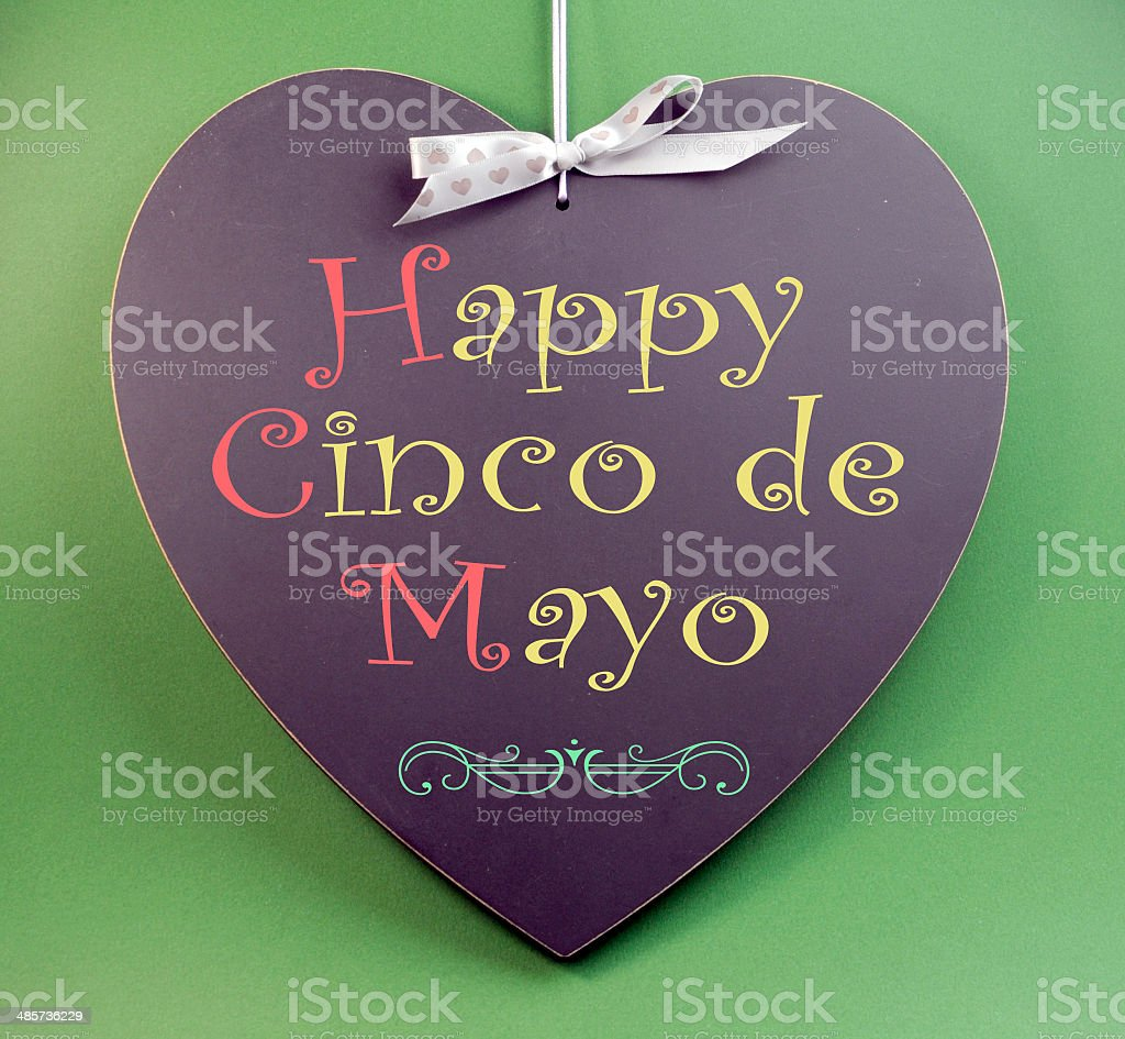 Happy Cinco de Mayo, 5th May, event reminder handwriting greeting stock photo