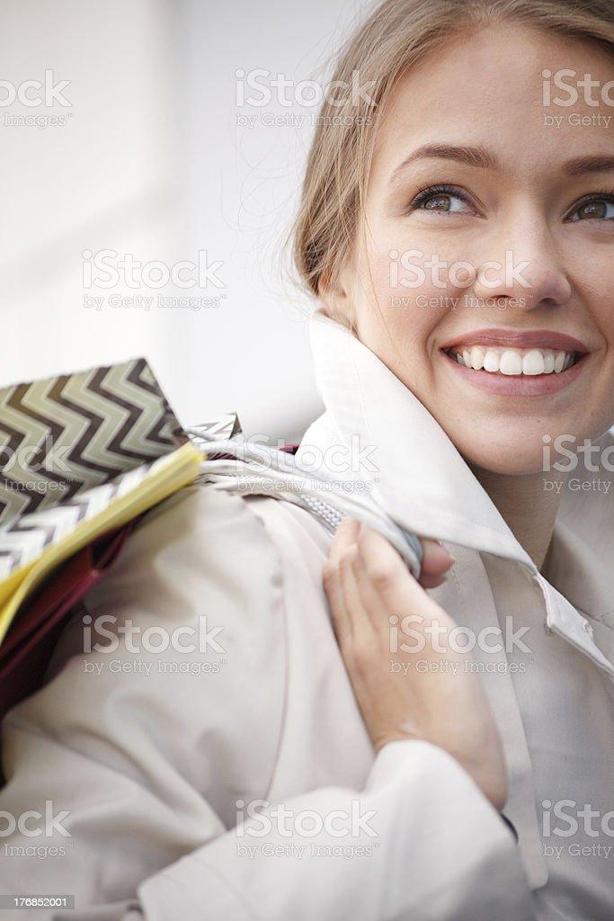Happy city girl royalty-free stock photo