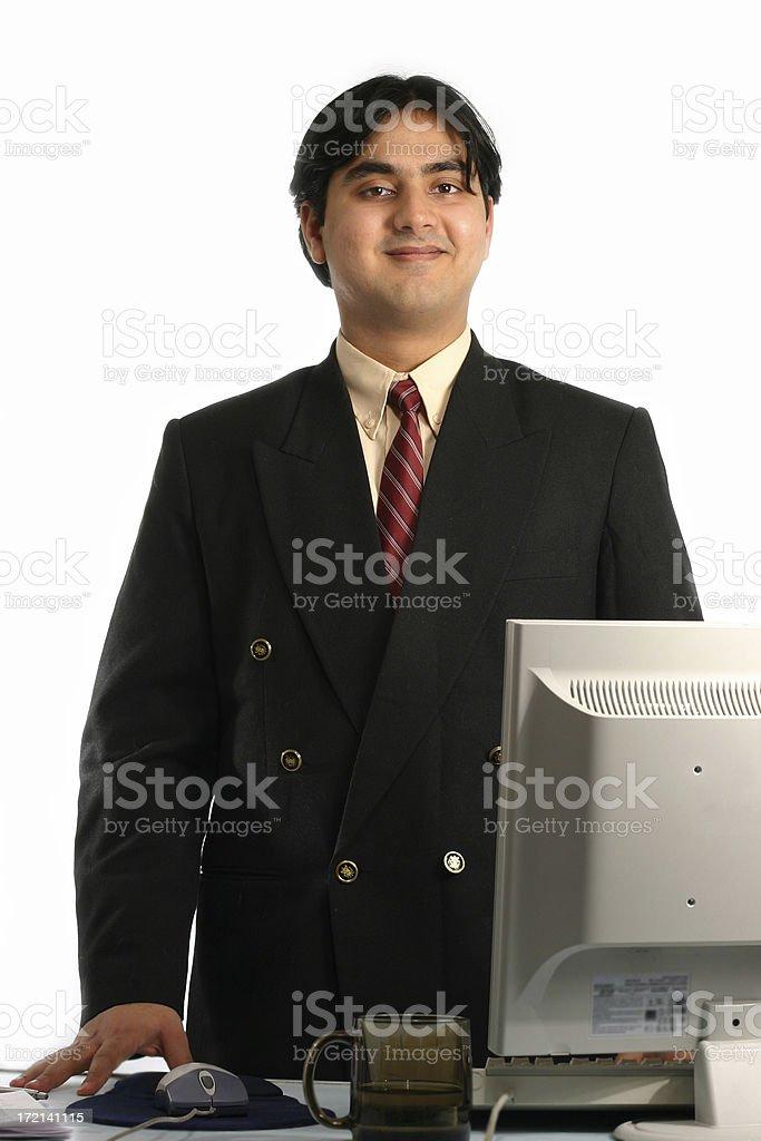 Happy Clerk royalty-free stock photo