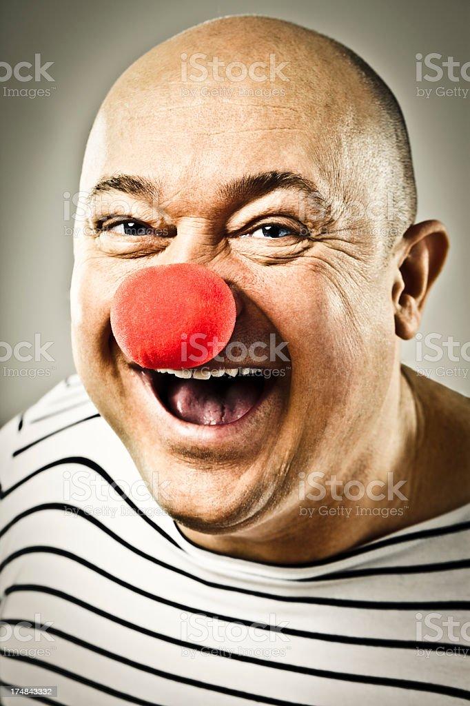 Happy clown laughing at camera royalty-free stock photo