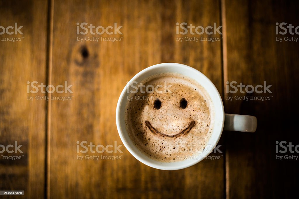 Happy Coffee Cup stock photo