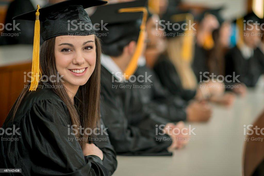 Happy College Graduate stock photo