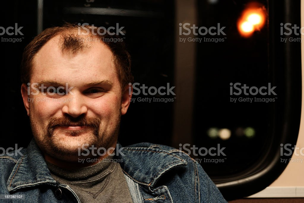 Happy College Man on MAX royalty-free stock photo