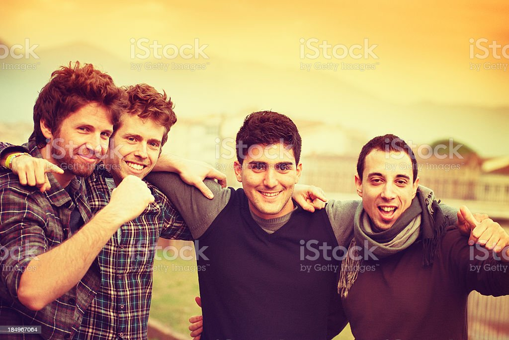Happy college students royalty-free stock photo