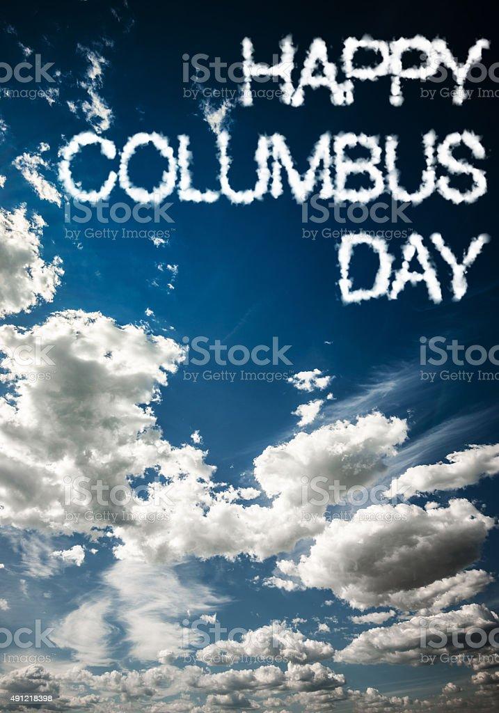 happy columbus day stock photo