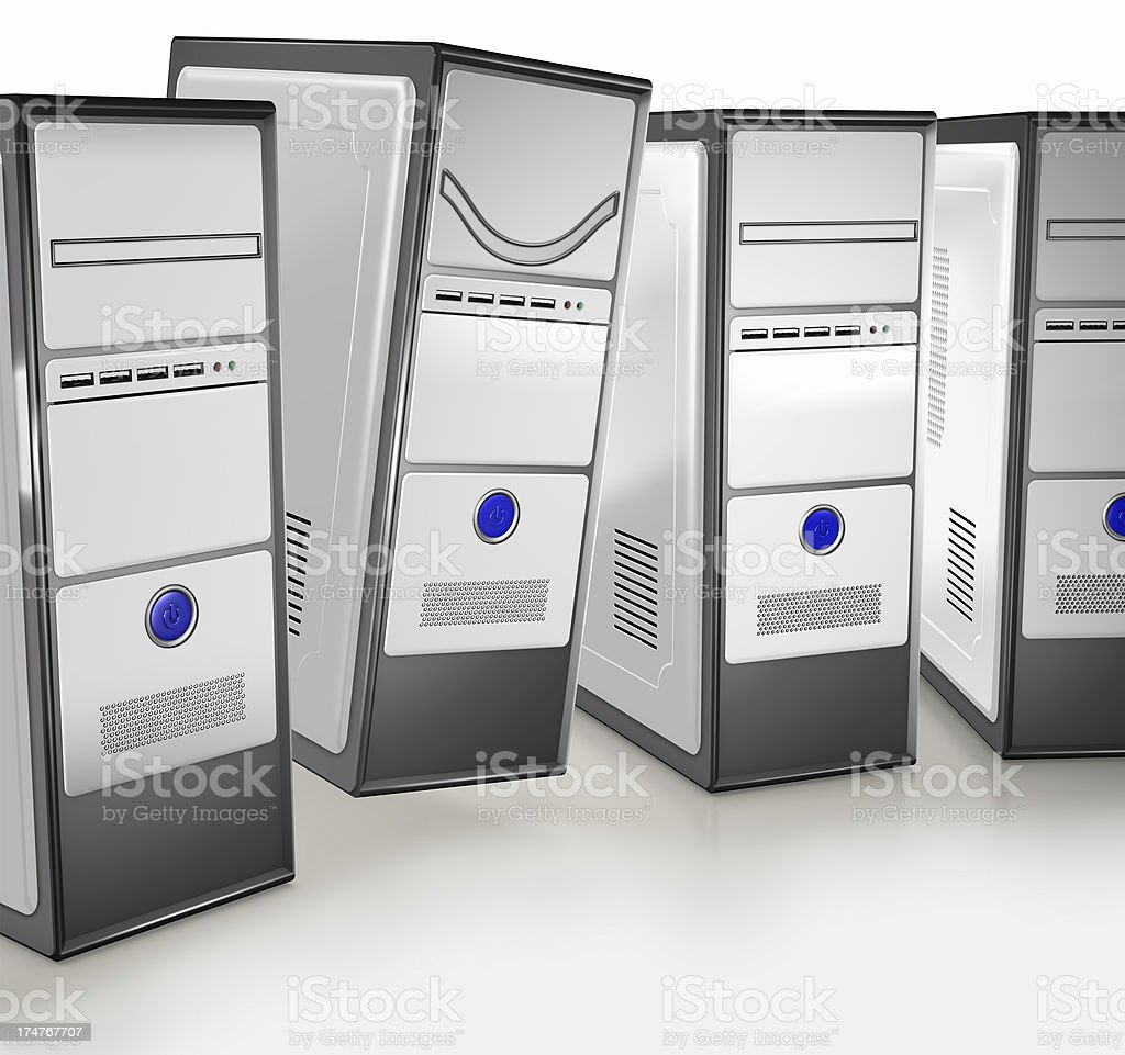 Happy Computer royalty-free stock photo