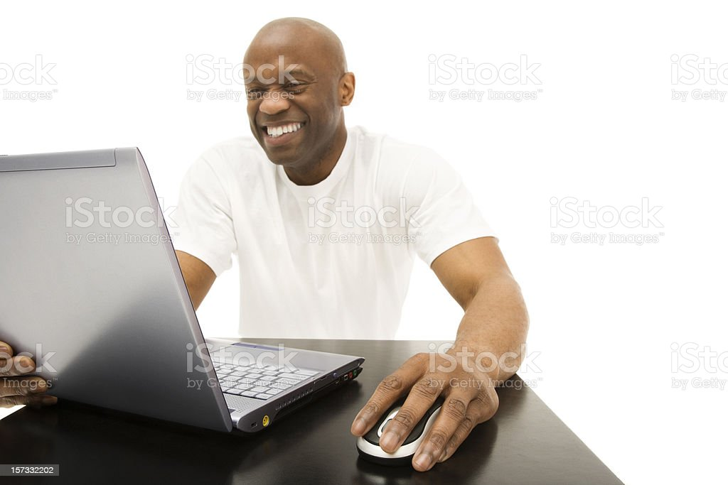 Happy Computer User royalty-free stock photo