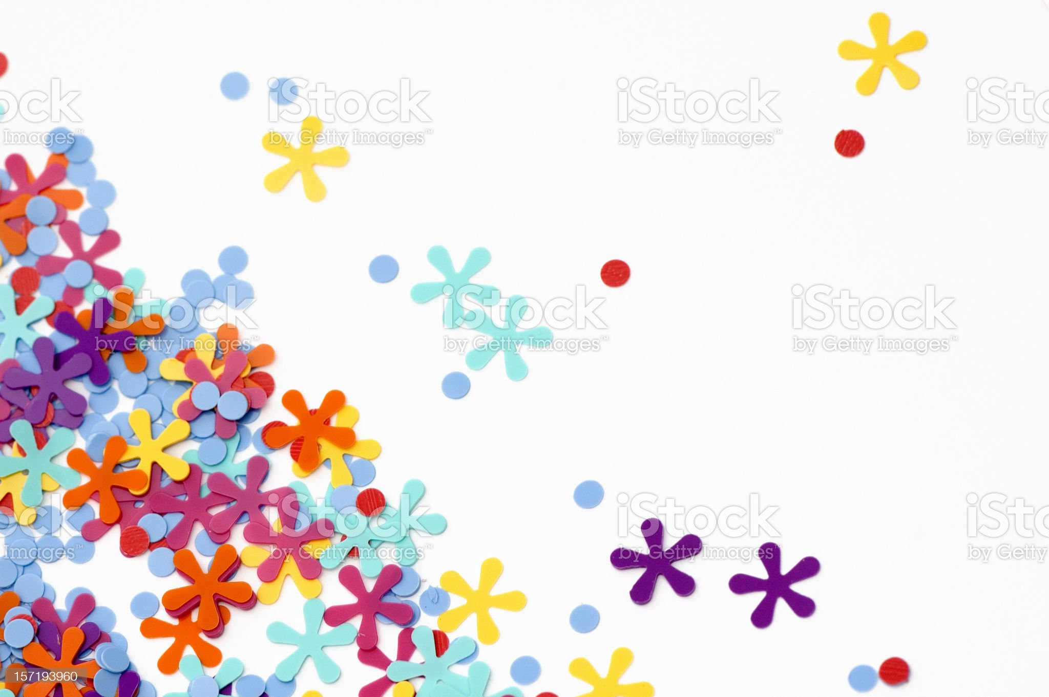 Happy Confetti royalty-free stock photo