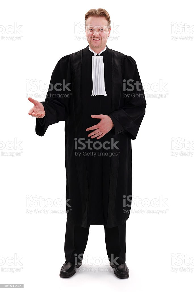 Happy confident lawyer stock photo