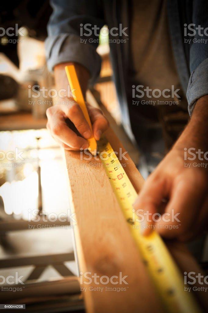 Happy construction worker. stock photo