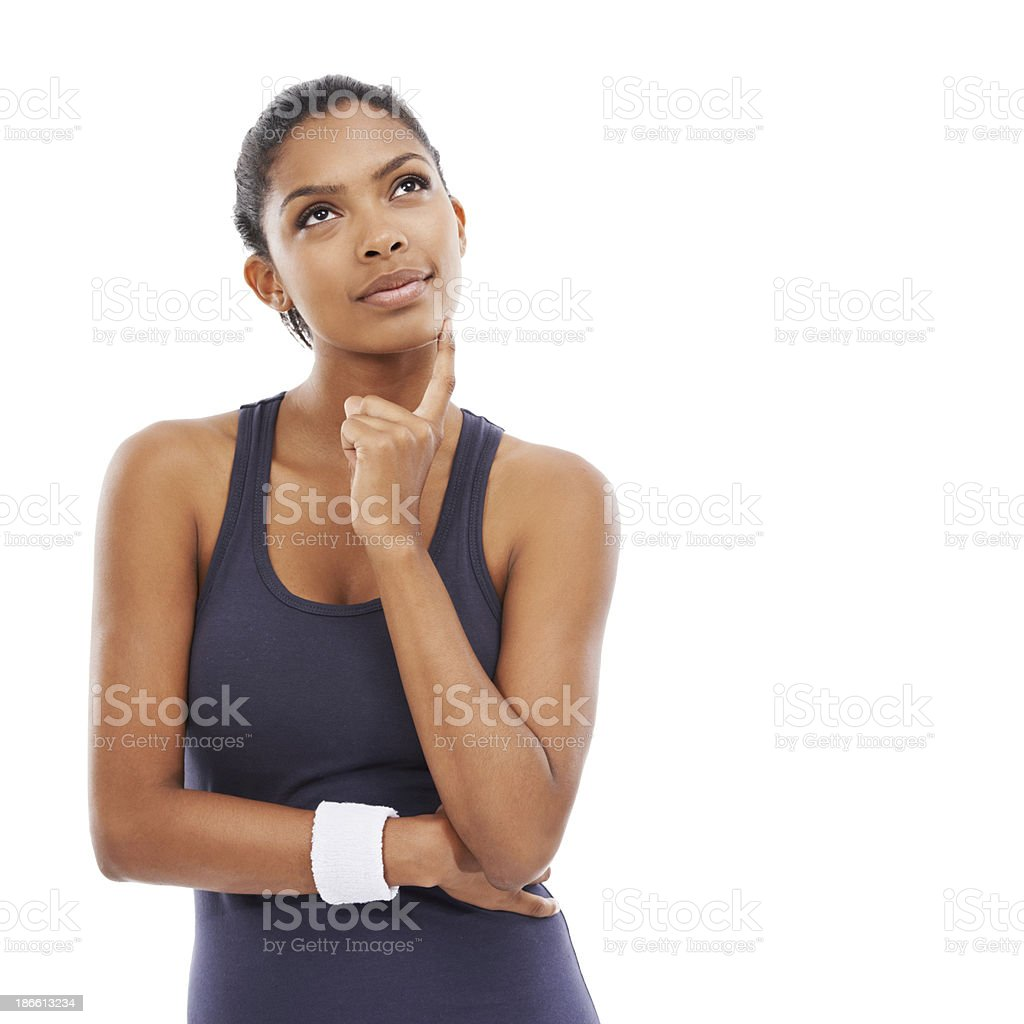 Happy contemplation royalty-free stock photo
