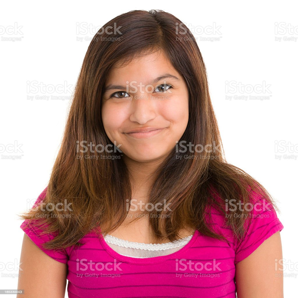 Happy Content Teenage Girl Portrait royalty-free stock photo