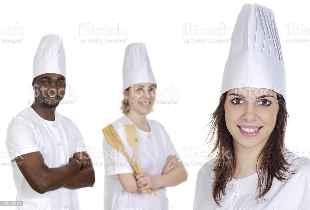 Happy cooks Team royalty-free stock photo