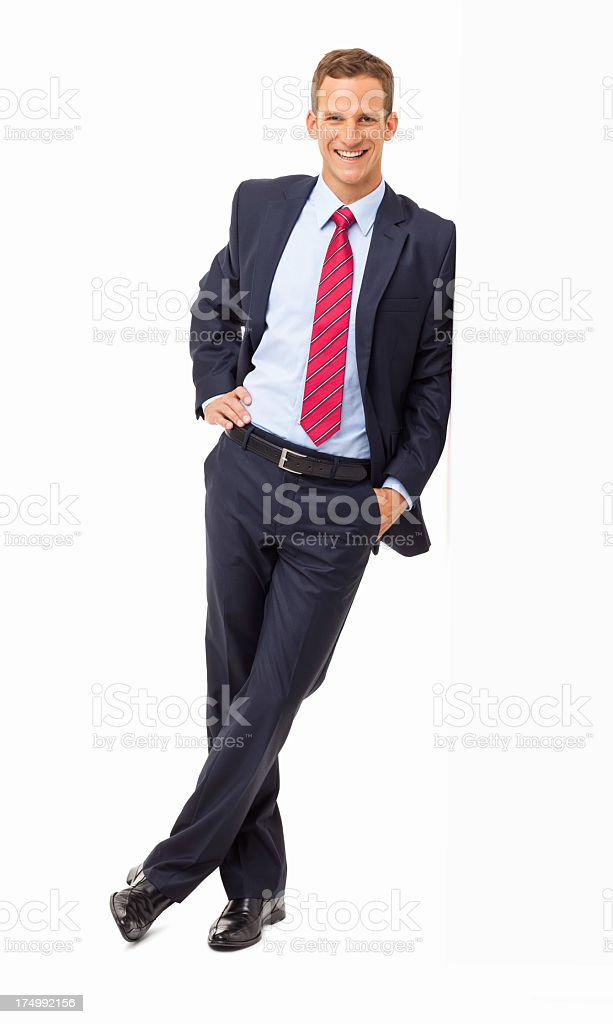 Happy Corporate Executive - Isolated royalty-free stock photo