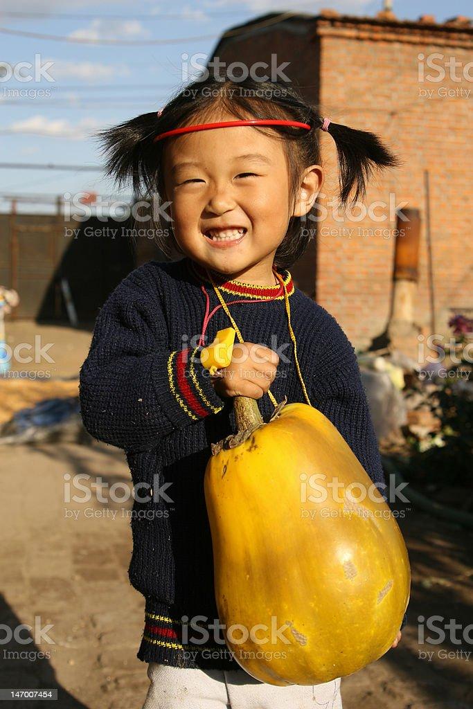 happy country girl stock photo