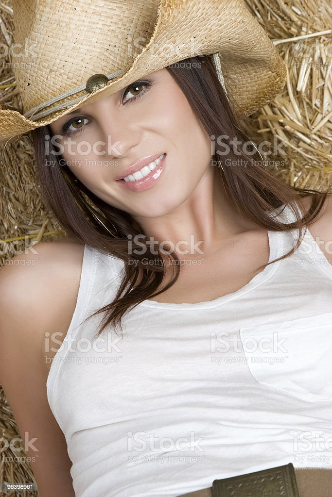 Happy Country Girl royalty-free stock photo