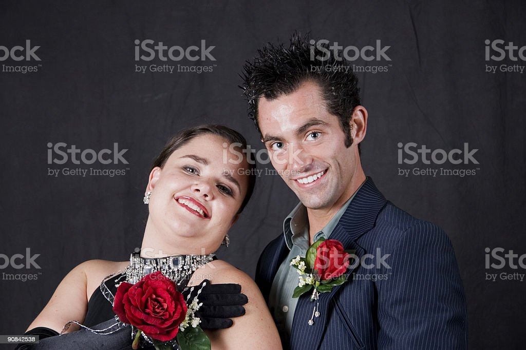 Happy Couple at the Dance stock photo
