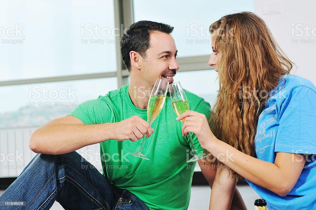 happy couple celebrate royalty-free stock photo