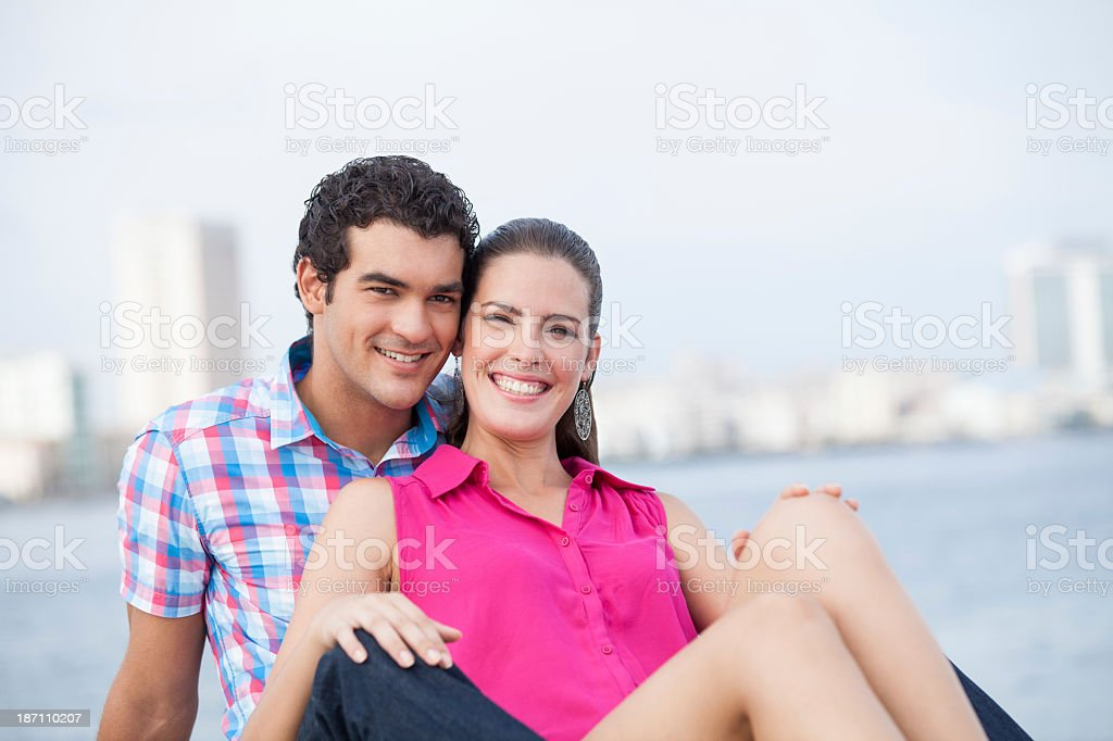 Happy couple close up royalty-free stock photo