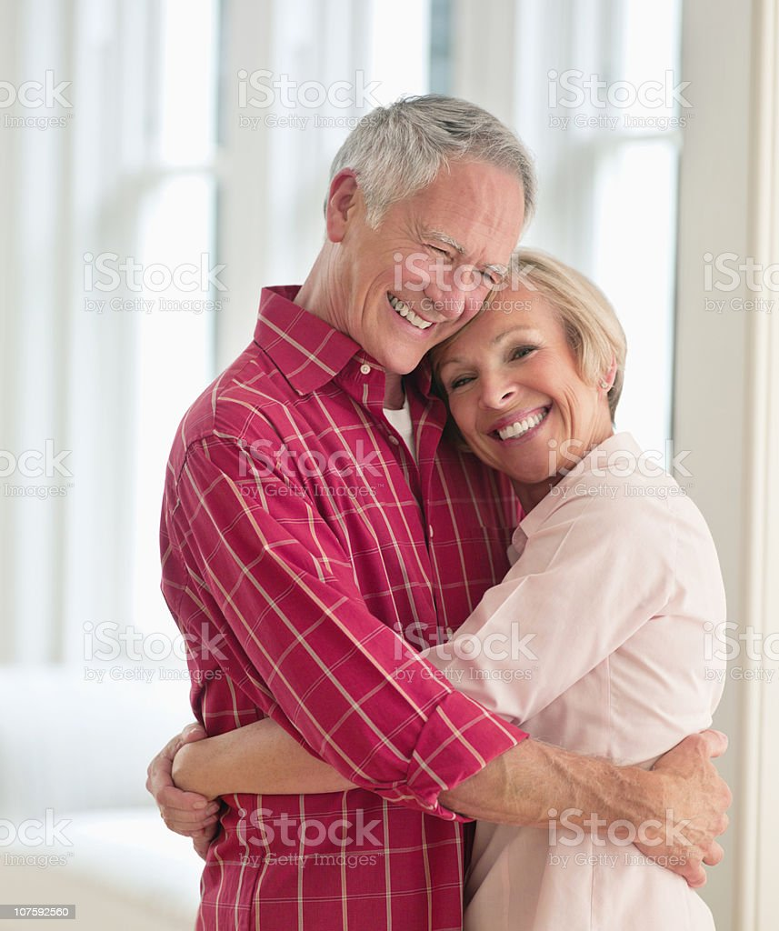 Happy couple embracing each other royalty-free stock photo