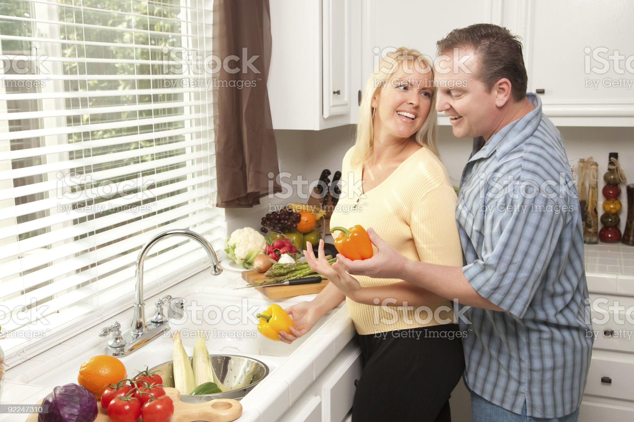 Happy Couple Enjoying An Eveing royalty-free stock photo