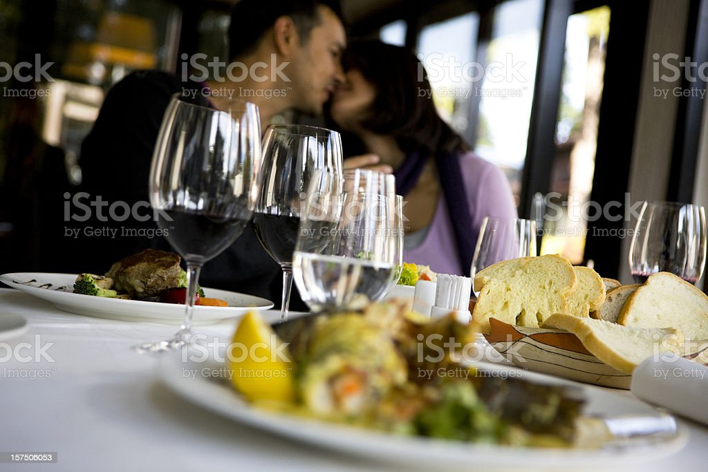 Happy couple enjoying royalty-free stock photo