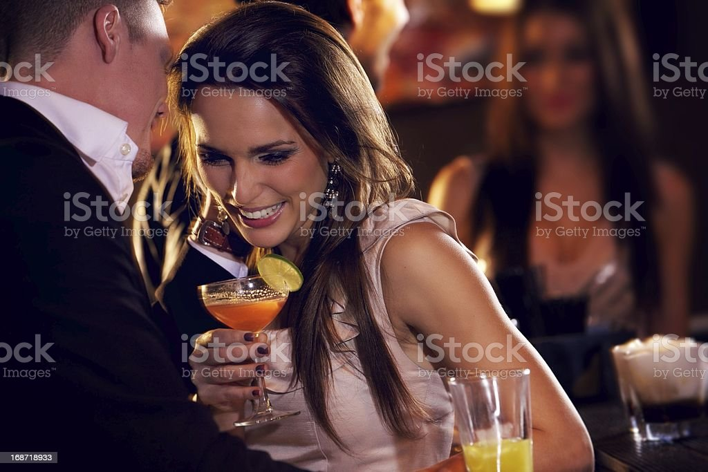 Happy Couple Enjoying the Party stock photo