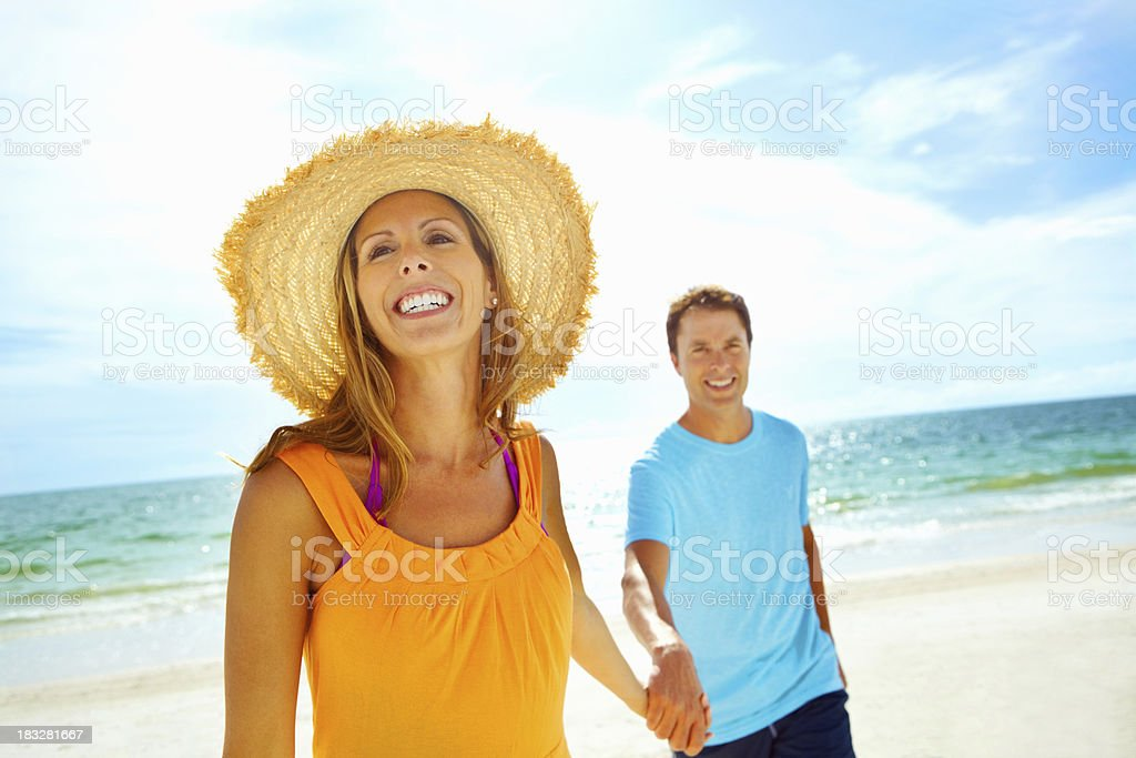 Happy couple enjoying their vacation royalty-free stock photo