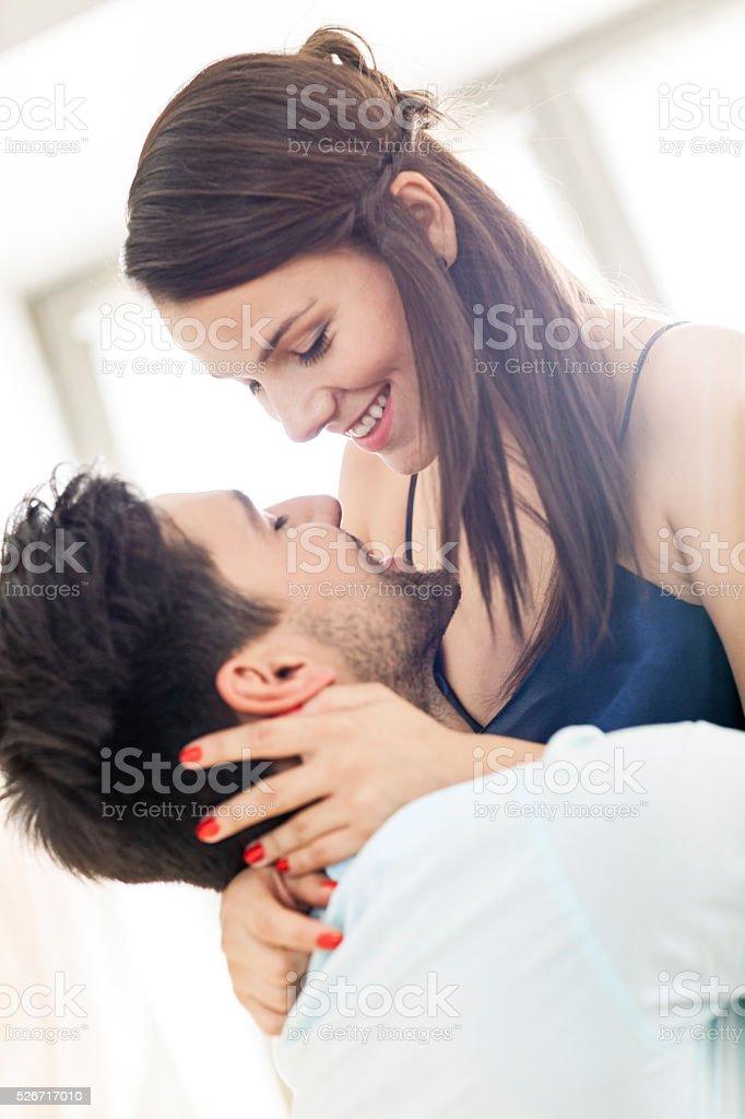 Happy Couple Having Fun Together stock photo
