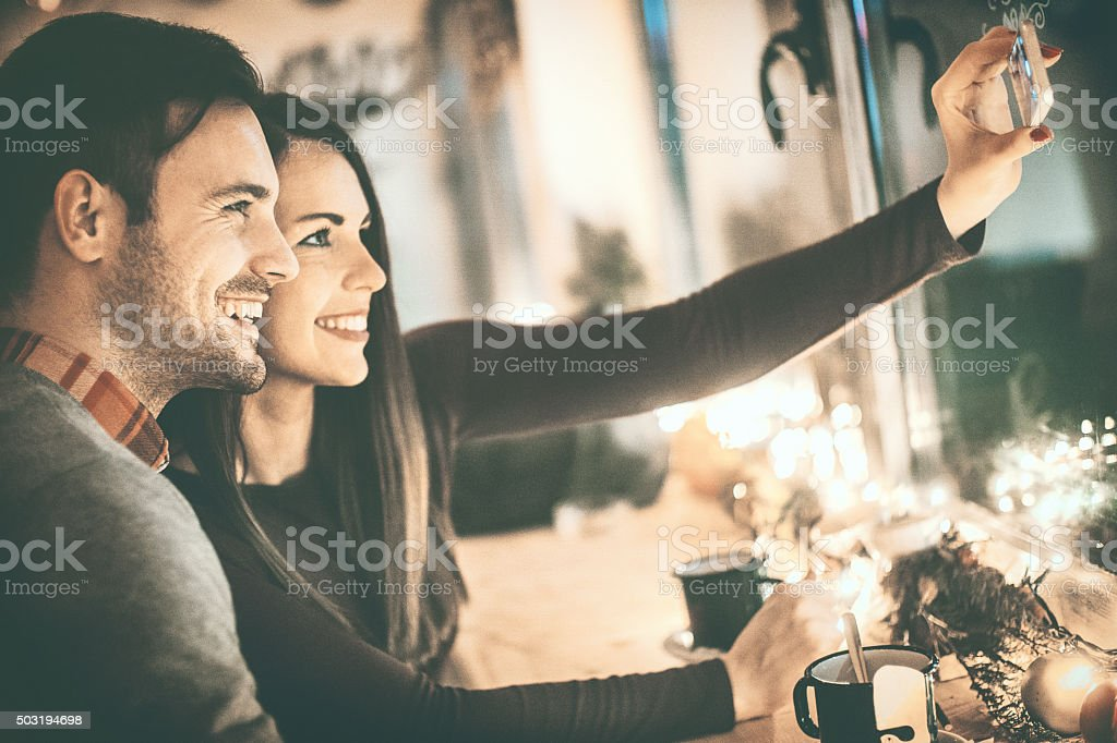 Happy couple having some quality time togrether. stock photo