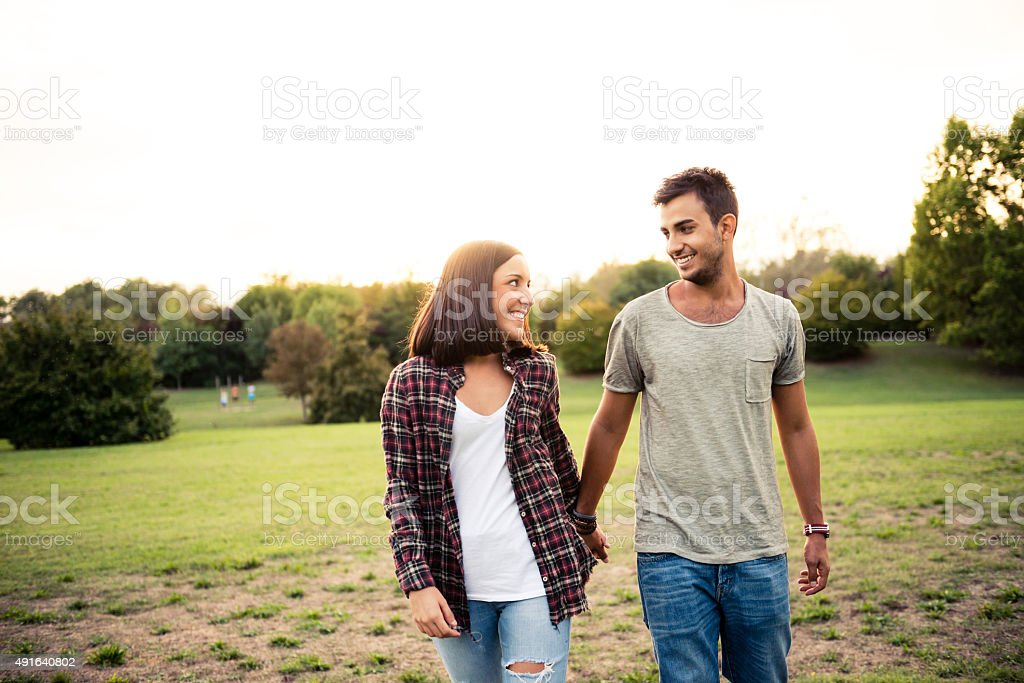 Happy couple in love stock photo