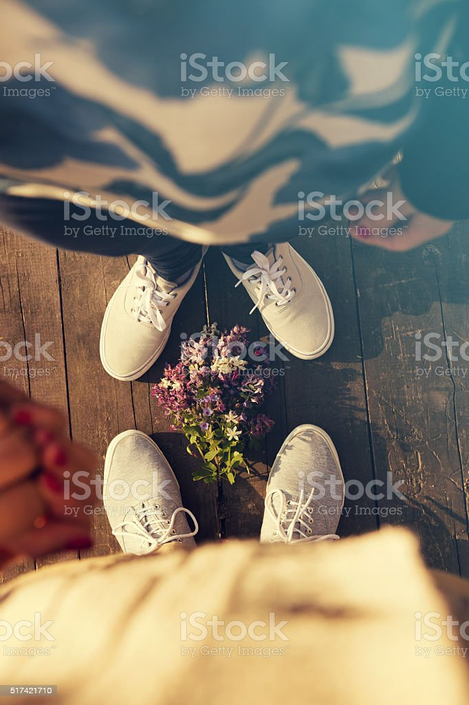 Happy couple in love. stock photo