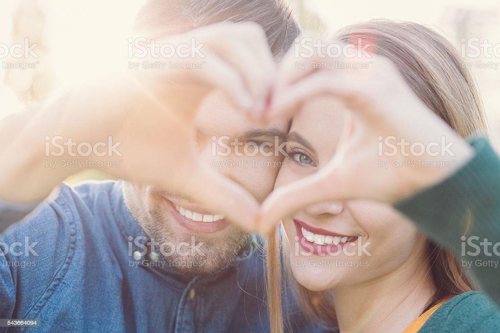 Happy couple in love stock photo