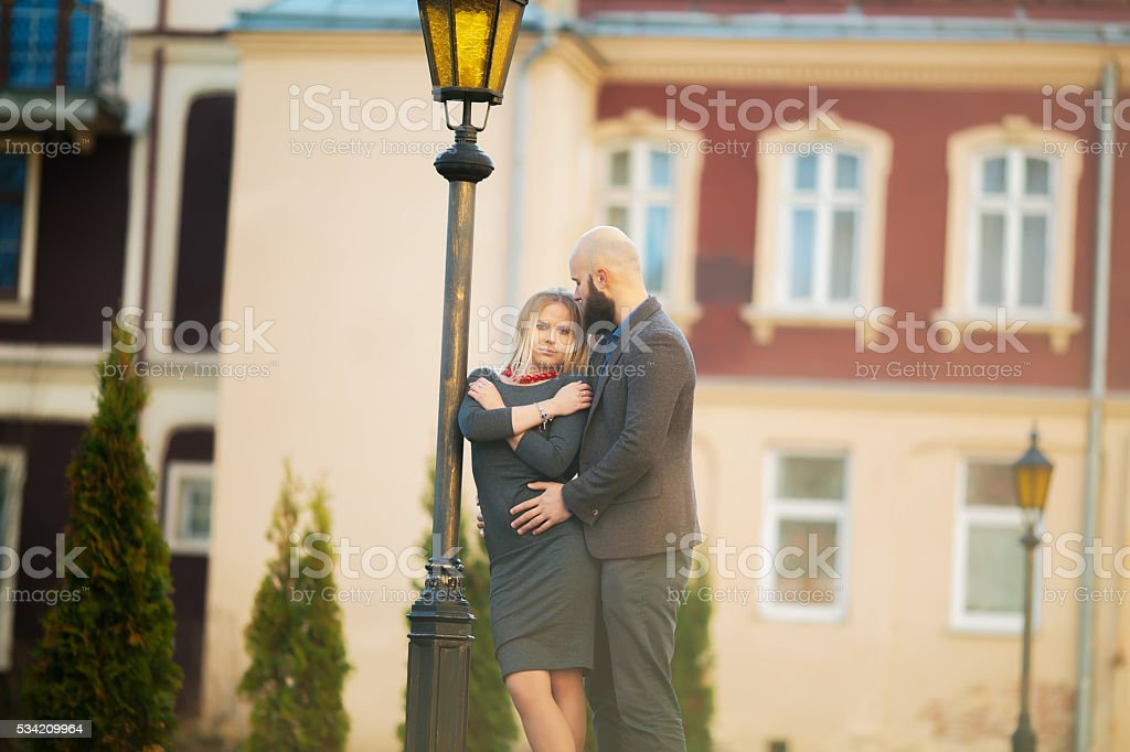 happy couple in love with each other, royalty-free stock photo