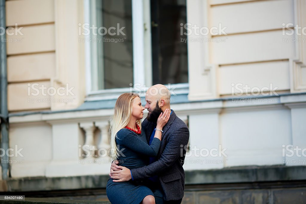 happy couple in love with each other,One beautiful royalty-free stock photo