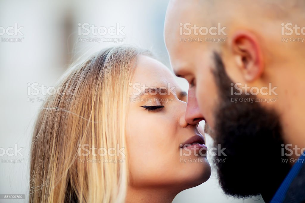 happy couple in love with each other,One beautiful stylish royalty-free stock photo