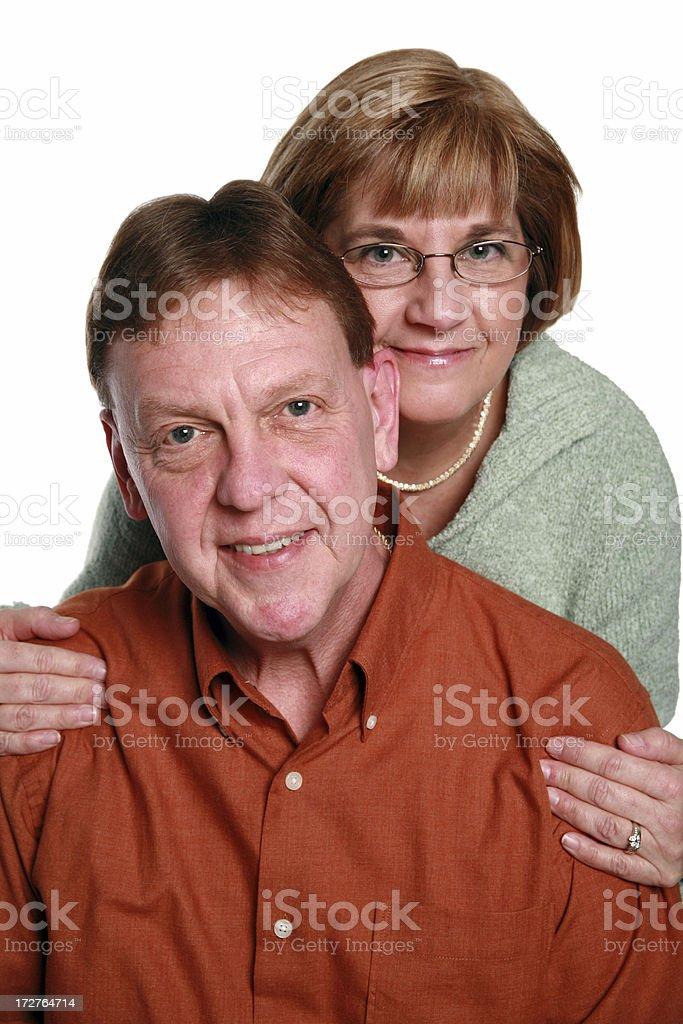 Happy Couple Isolated On White royalty-free stock photo