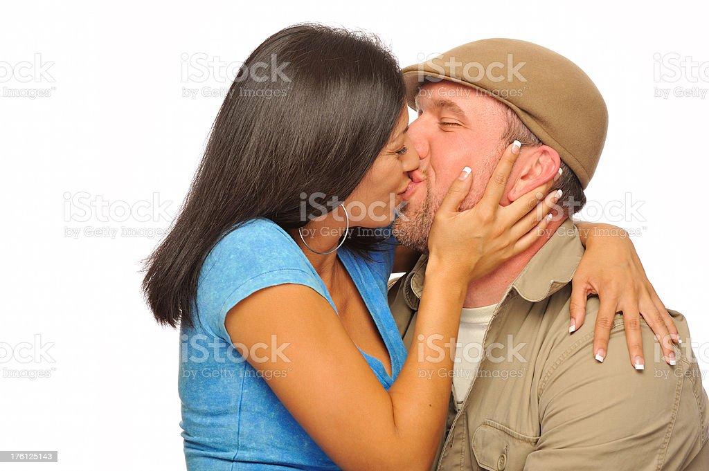 Happy couple kissing royalty-free stock photo