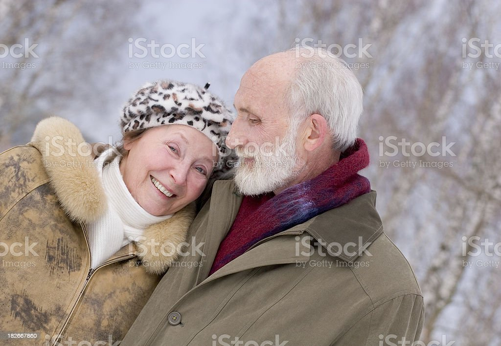 Happy couple on Christmas royalty-free stock photo
