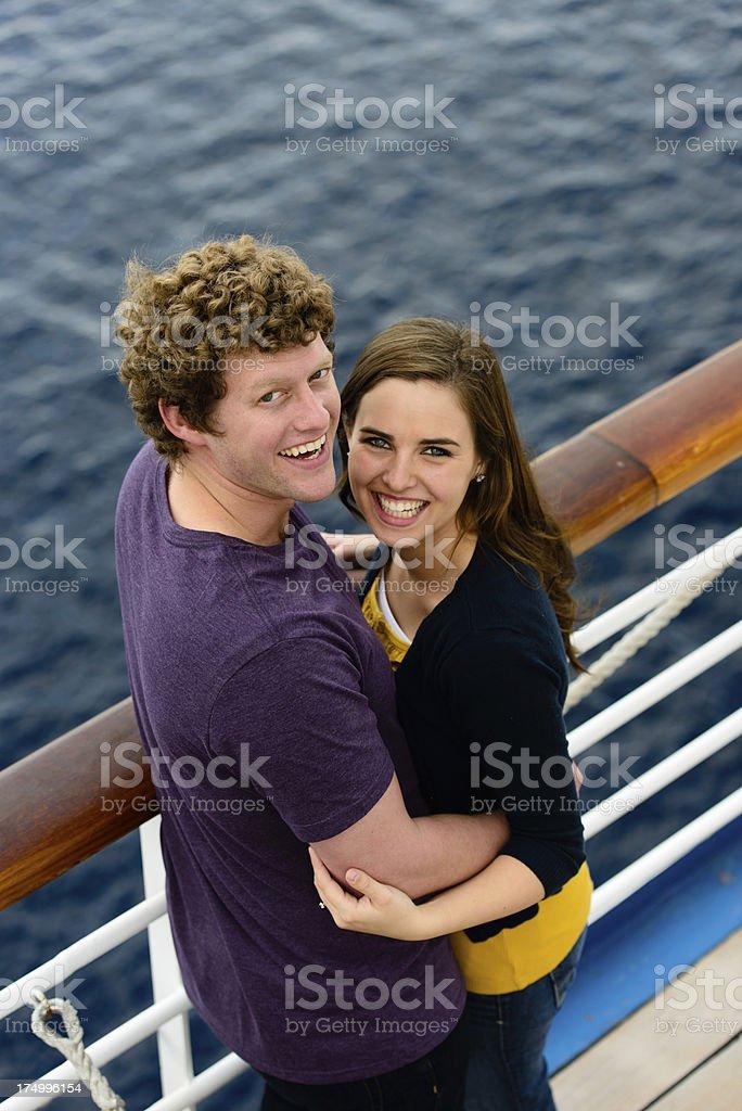 Happy Couple On Cruise royalty-free stock photo
