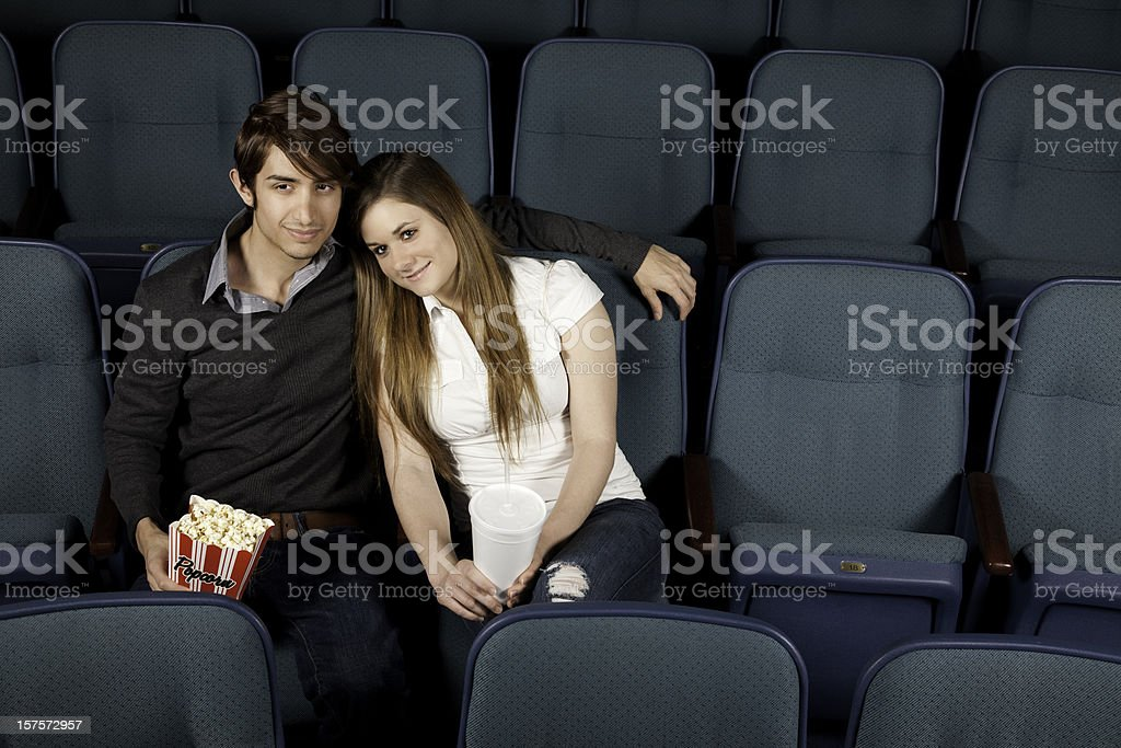 Happy Couple Out at the Movies Together royalty-free stock photo
