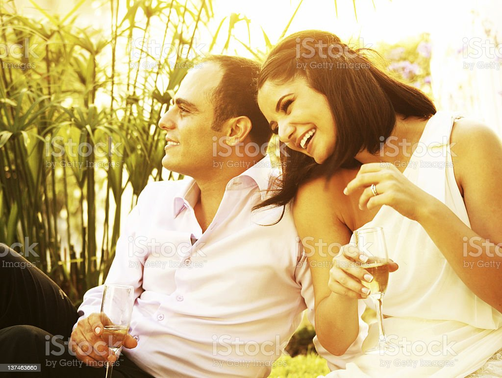Happy couple outdoor royalty-free stock photo