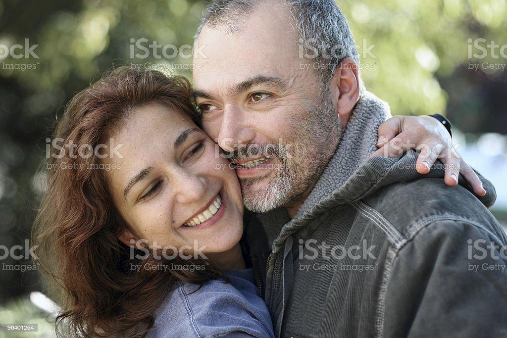 Happy couple outdoors royalty-free stock photo