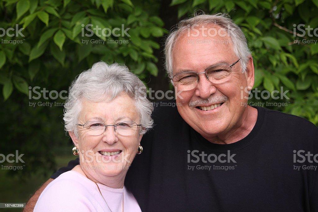 Happy Couple Outside royalty-free stock photo
