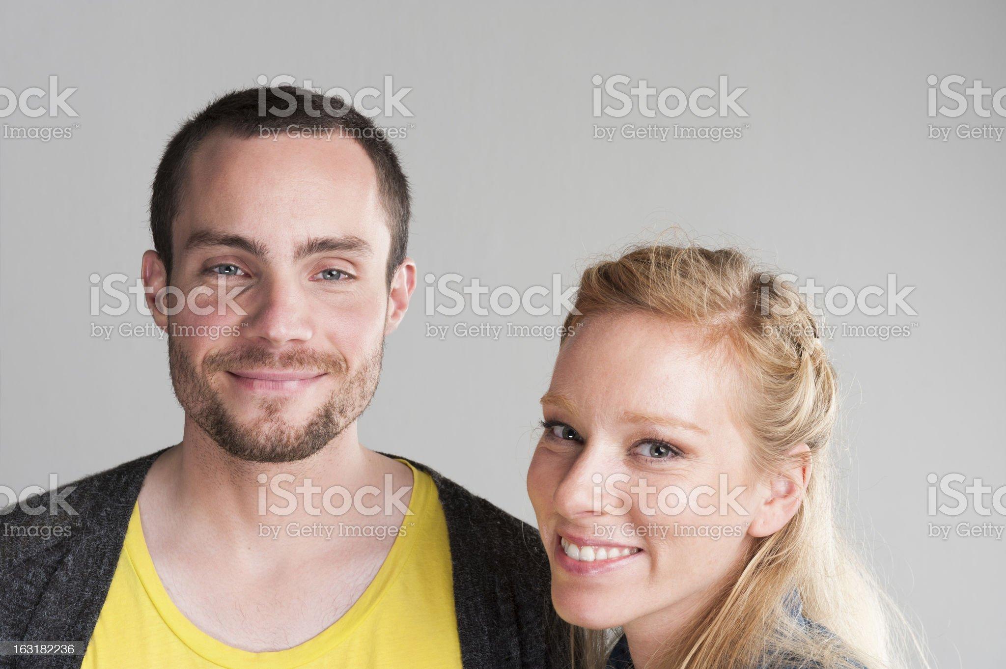 Happy Couple Portrait royalty-free stock photo