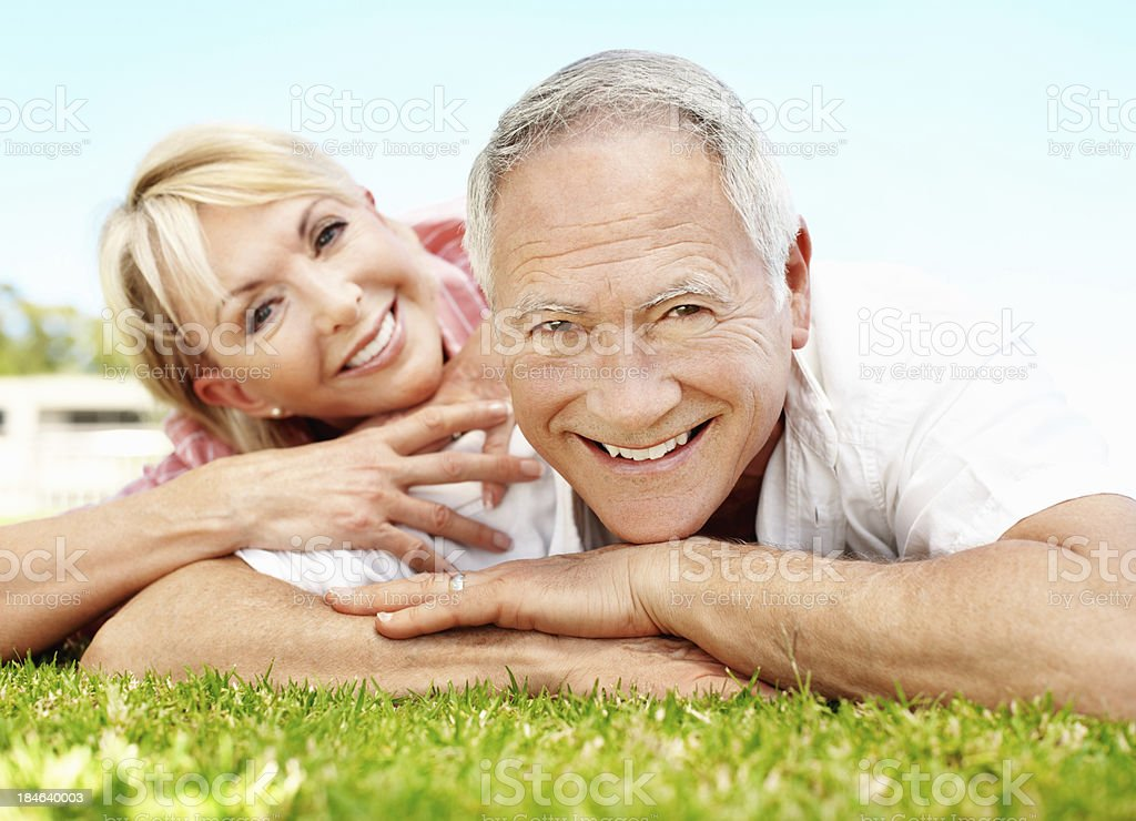 Happy couple relaxing together royalty-free stock photo