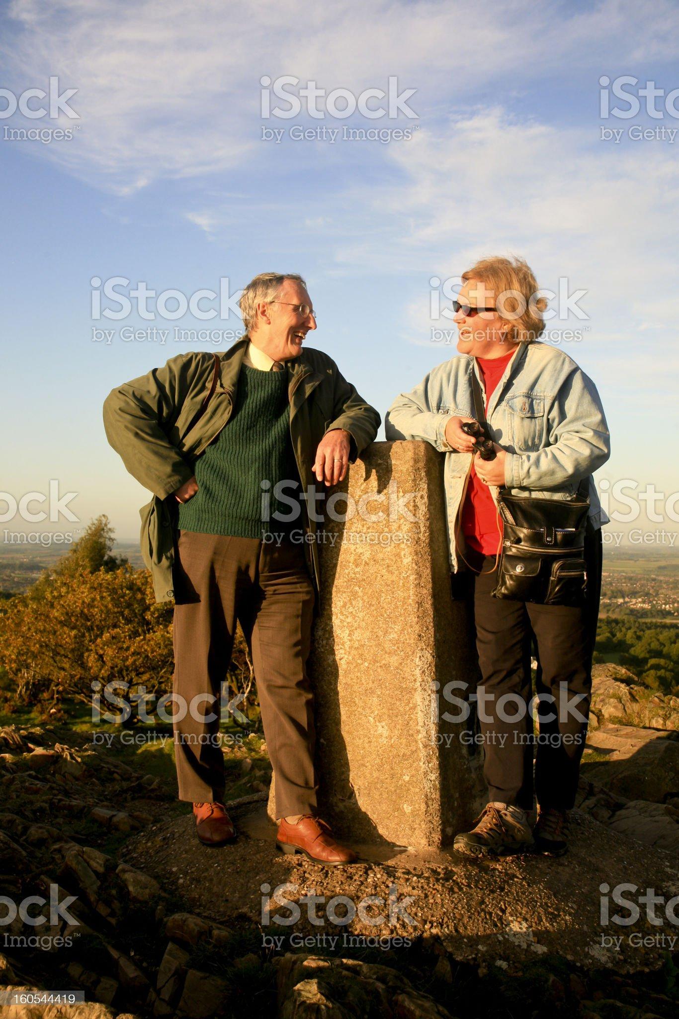 Happy Couple Resting on Beacon Hill Park, UK royalty-free stock photo