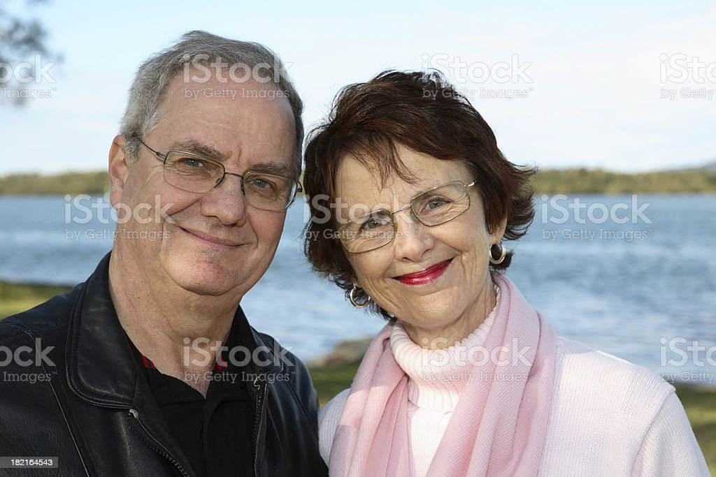 Happy Couple Riverfront royalty-free stock photo