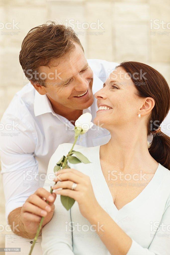 Happy couple romacing royalty-free stock photo