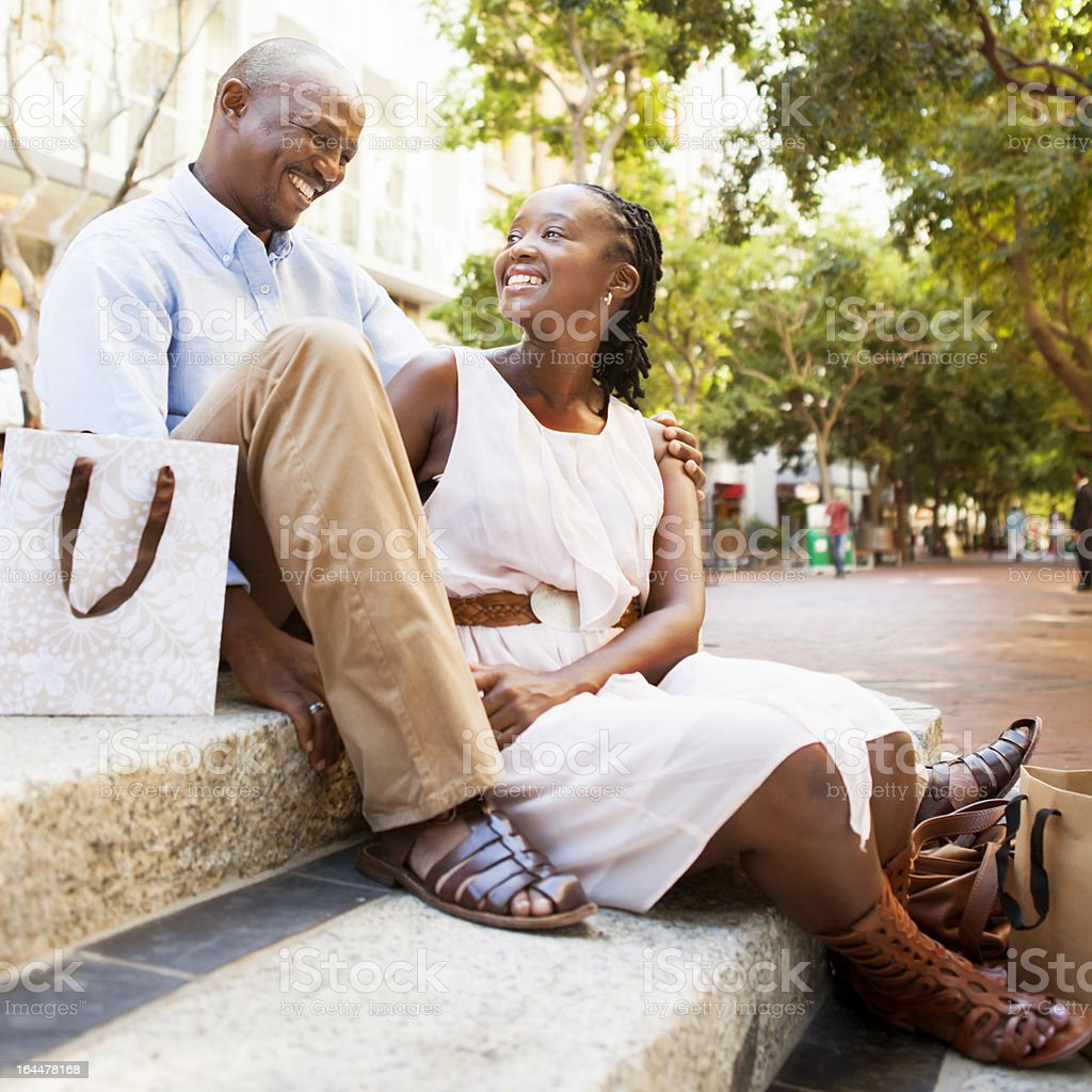 Happy Couple Shopping royalty-free stock photo